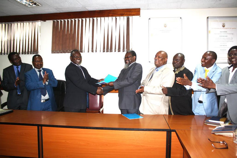 Technical University of Kenya (TU-K) has signed a Collective Bargaining Agreement (CBA)
